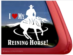Horse Reiner Horse Trailer Window Decal