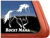 Rocky Mama Rocky Mountain Horse Trailer Car Truck RV Window Decal Sticker