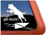 Got Docks Dock Dog Labrador Retriever iPad Car Truck Window Decal Sticker