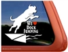 We Love Dock Jumping Dock Dog Labrador Retriever iPad Car Window Decal Sticker
