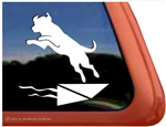 Custom Labrador Retriever Dock Dog iPad Car Truck Window Decal Sticker
