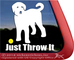 Labradoodle Dog Window Decal