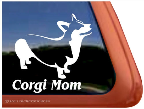 Amazon Com Expressdecor Welsh Corgi Mom Dog Symbol Decal Paw Print Dog Puppy Pet Family Breed Love Car Truck Sticker Window White Automotive