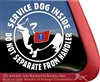 Pembroke Welsh Corgi Service Dog Window Decal