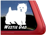 West Highland White Terrier Car Window iPad Decal Sticker