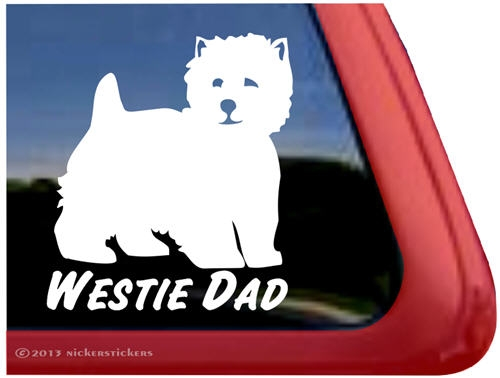 West highland white terrier car window ipad decal sticker larger photo email a friend