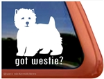 Got Westie West Highland White Terrier Agility Dog Car Window iPad Decal Sticke