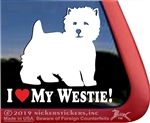 I Love My Westie Dog Car Window iPad Decal Sticker