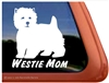 Westie Mom West Highland White Terrier Agility Dog Car Window iPad Decal Sticker