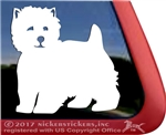 Personalized  West Highland White Terrier Westie Dog Car Window Decal Sticker iPad