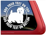 West Highland White Terrier Westie Car Window Decal Sticker iPad