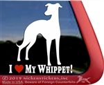 Whippet Window Decal