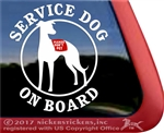 Whippet Service Dog Car Truck Window Decal Sticker