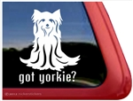 Yorkie Window Decal