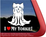 Yorkie Yorkshire Terrier Dog Car Truck RV Window Decal Sticker DC514HEA