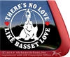 Basset Hound Love Dog Car Truck RV Window Decal Sticker