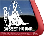 Basset Hound Vinyl Dog Car Truck RV Window Decal Sticker