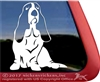 Custom Basset Hound Vinyl Dog Car Truck RV Window Decal Sticker