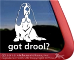 Basset Hound Dog Car Truck RV Window Decal Sticker