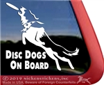 Border Collie Disc Dog Window Decal