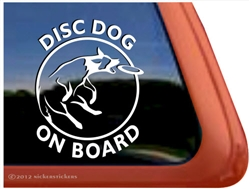 Disc Dog Window Decal