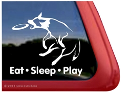 Australian Cattle Dog Heeler Frisbee Disc Dog Car Truck RV Window Decal Sticker