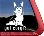 Sitting Pembroke Welsh Corgi Window Decal Sticker