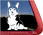 Custom Pembroke Welsh Corgi Dog Window Decal Sticker