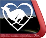 Custom Love Heart Greyhound Dog iPad Car Truck RV Window Decal Sticker