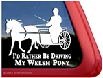 Welsh Pony Driving Horse Trailer Window Decal