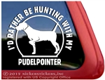 Pudelpointer Dog Gun Dog Hunting Dog Car Truck RV Window Decal Stickers