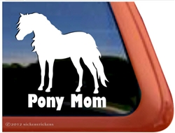 Shetland Pony Horse Trailer Window Decal