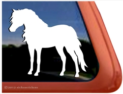 Custom Shetland Pony Horse Trailer Car Truck RV Window Decal Sticker
