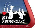 Landseer Newfoundland Window Decal