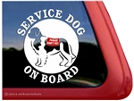 Landseer  Newfoundland Service Dog iPad Car Truck RV Window Decal Sticker
