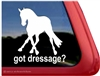 Dressage Slide Horse Trailer Window Decal