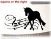 Musical Dressage Horse Trailer Window Car Truck RV Decal