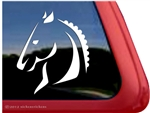 Dressage Horse Horse Trailer Window Decal