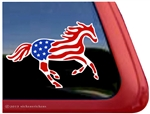Custom USA American Flag Appaloosa Window Decal