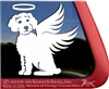 Custom Schnoodle Angel Dog Car Truck RV Window Decal Sticker