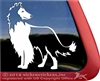 Custom Rough Collie Dog Car Truck RV Window iPad Laptop Decal Sticker