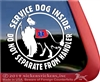 Collie Service Dog Window Decal