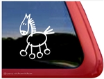Stick Horse Horse Trailer Window Decal