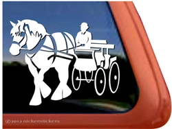 Clydesdale Draft Driving Horse Trailer Window Decal