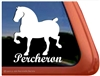 Percheron Horse Trailer Window Decal
