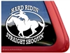 Mounted Shooting Horse Trailer Window Decal