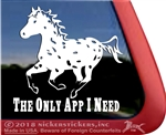 Leopard Appaloosa Horse Window Decal