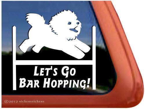 Bichon Frise Agility Dog Window Decal Nickerstickers