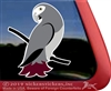 Custom Timneh Grey Parrot Bird Car Truck RV Window Decal Sticker
