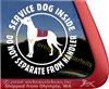 Harlequin Great Dane Service Dog Car Truck RV Window Decal Sticker